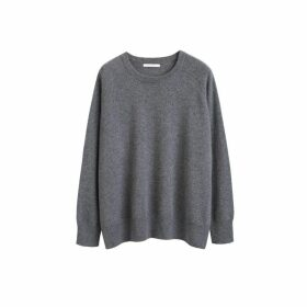 Chinti & Parker Grey Cashmere Slouchy Sweater