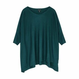 EILEEN FISHER Teal Fine-knit Jumper