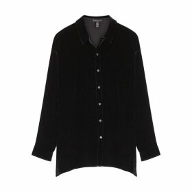 EILEEN FISHER Black Velvet Shirt