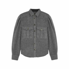 Isabel Marant Florrie Grey Wool-blend Shirt