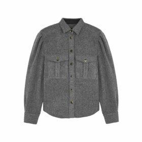 Isabel Marant Florrie Grey Wool-blend Shirt