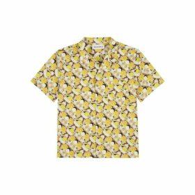 Rochambeau Pocketed Short Sleeve Shirt - Yellow Brad