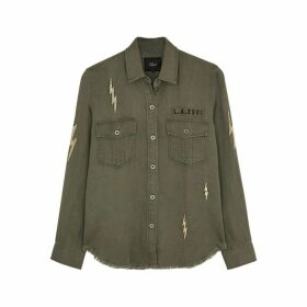 Rails Loren Embroidered Brushed Twill Shirt