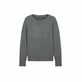 Chinti & Parker Grey Cashmere Boxy Sweater
