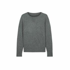 Chinti & Parker Grey Cashmere Boxy Sweater