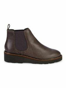Grill Waterproof Leather Wedge Chelsea Boots