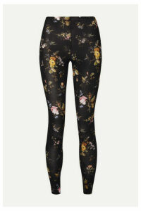 R13 - Floral-print Stretch-jersey Leggings - Black