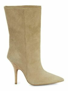 Suede Tubular Ankle Boots