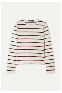 ALEXACHUNG - Striped Cotton-jersey Top - White