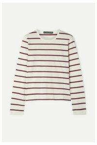 ALEXACHUNG - Striped Cotton-jersey Top - White
