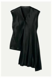 Joseph - Ewyn Draped Asymmetric Silk-satin Top - Black