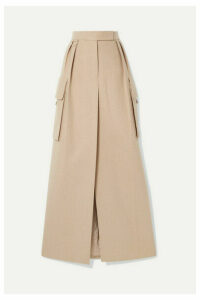 Max Mara - Duente Wool And Cashmere-blend Maxi Skirt - Beige