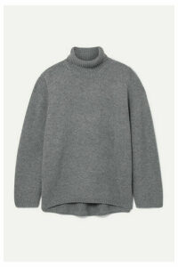 Totême - Cambridge Oversized Wool And Cashmere-blend Turtleneck Sweater - Gray
