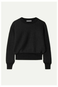 Alice + Olivia - Maire Metallic Knitted Sweater - Black