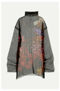 Dries Van Noten - Darci Oversized Floral-print Silk-tulle Tunic - Black