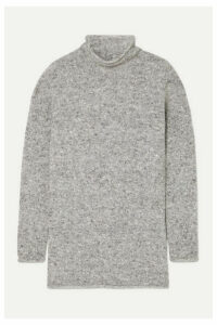 Agnona - Mélange Wool-blend Sweater - Dark gray