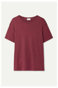 RE/DONE - 70s Oversized Supima Cotton-jersey T-shirt - Burgundy