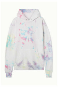 DANNIJO - Hailey Oversized Tie-dyed Cotton-blend Jersey Hoodie - White