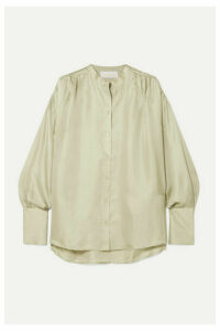 REMAIN Birger Christensen - Silk-satin Blouse - Mint