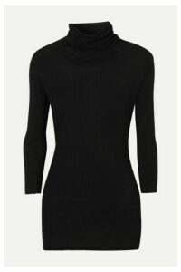 James Perse - Ribbed Cotton And Cashmere-blend Turtleneck Top - Black