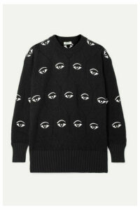 KENZO - Embellished Embroidered Jacquard-knit Sweater - Black