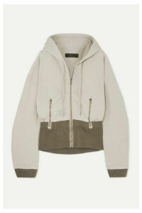 Haider Ackermann - Paneled Ribbed Cotton-jersey Hoodie - Gray