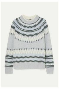 Adam Lippes - Fair Isle Knitted Sweater - Light gray
