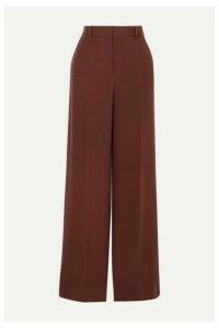 Joseph - Alana Silk-crepe Wide-leg Pants - Burgundy