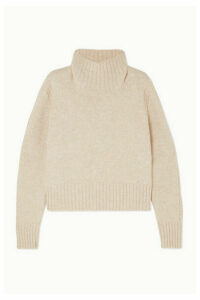 &Daughter - Fintra Cropped Wool Turtleneck Sweater - Cream