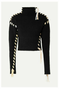 Acne Studios - Kerri Whipstitched Wool Turtleneck Sweater - Black
