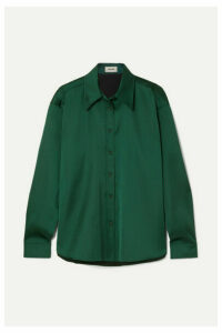 we11done - Duchesse-satin Shirt - Emerald