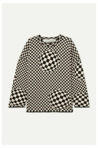 Off-White - Checked Cotton-blend Sweater - Black