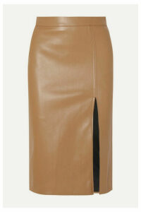 we11done - Faux Leather Skirt - Beige