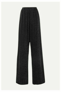 Balenciaga - Metallic Stretch-jersey Wide-leg Pants - Black