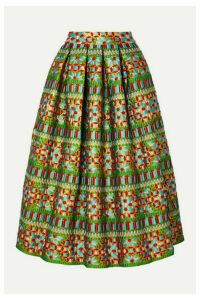 RIANNA + NINA - Michaela Brocade Maxi Skirt - Green