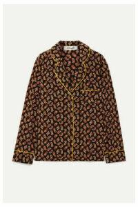 Diane von Furstenberg - Halsey Printed Silk Crepe De Chine Shirt - Black