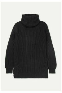 &Daughter - Inver Ribbed Merino Wool And Cashmere-blend Turtleneck Sweater - Black