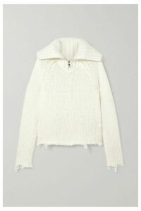 RtA - Dom Oversized Distressed Cotton-blend Open-knit Sweater - White