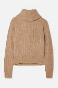 Diane von Furstenberg - Pax Ribbed-knit Turtleneck Sweater - Sand
