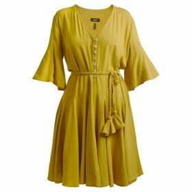GISY - Mustard Belted Mini Dress