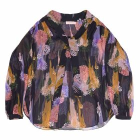Tomcsanyi - Greta Gloomy Flower Print Sheer Blouse