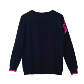 Cove - Connie Navy Rainbow Star Cashmere Jumper