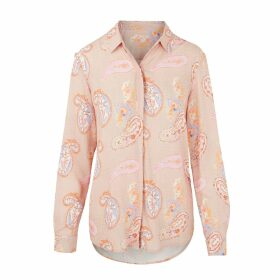 Cove - Cashmere Wrist Warmers Grey With Pink & Orange