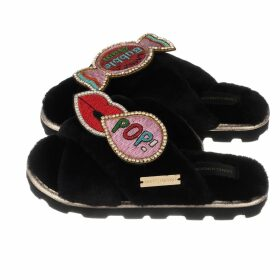 INGMARSON - Henley Silk Stripe Neck Scarf Long Blue
