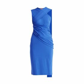 Allora - Wool Cashmere Double Breasted Cape Poppy