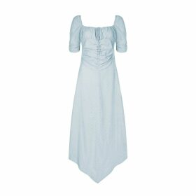 PAISIE - Winter Floral Maxi Wrap Dress In Winter Navy Floral Print