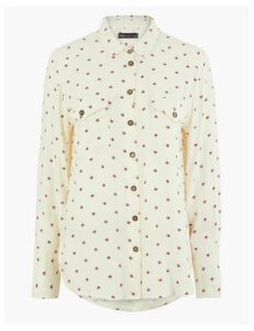 M&S Collection Printed Relaxed Fit Shirt
