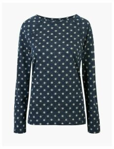 M&S Collection Printed Long Sleeve Long Sleeve Top