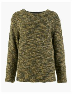 M&S Collection Pure Cotton Boucle Sweatshirt