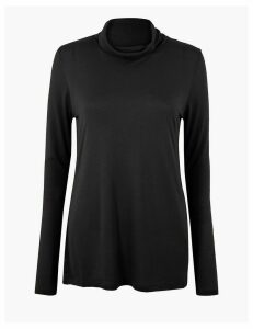M&S Collection Turtle Neck Relaxed Fit Top